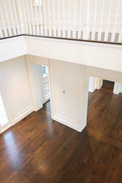 hardwood floor pictures - living room aerial view