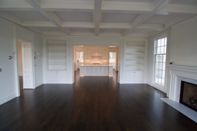 hardwood floor pictures - living room with built ins