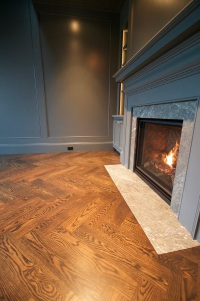 hardwood floor pictures study with fireplace
