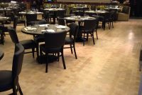 wood floors in a restaurant